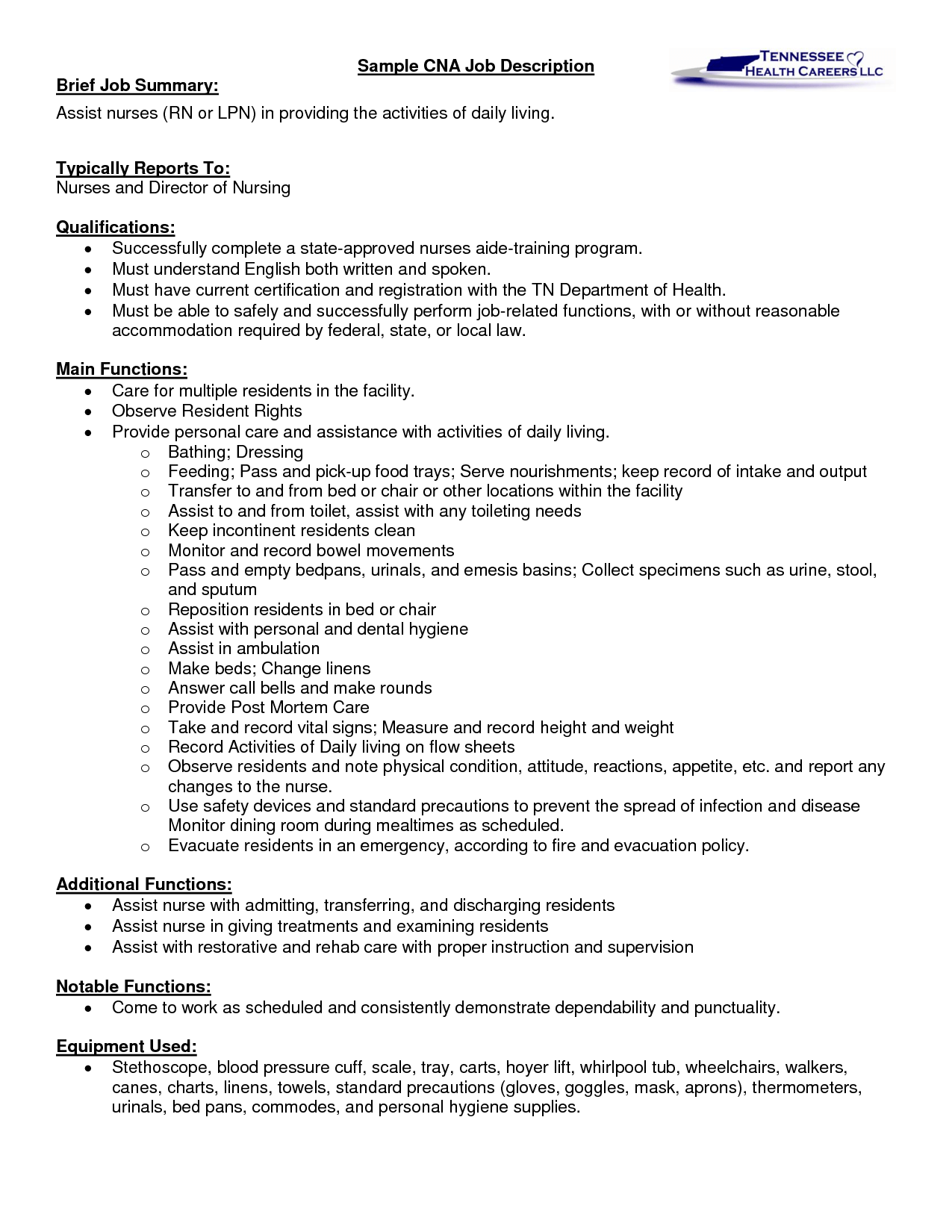 Resume Sample Resume Detailed Job Description Nurses rn duties resume cv cover letter job description assistant controller sample entry critical care nurse description